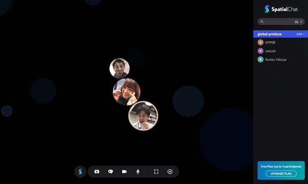 spatial.chat スペース すぺちゃ アイコン グローバルプロデュース