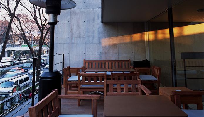 モントーク、テラス、カフェ、表参道