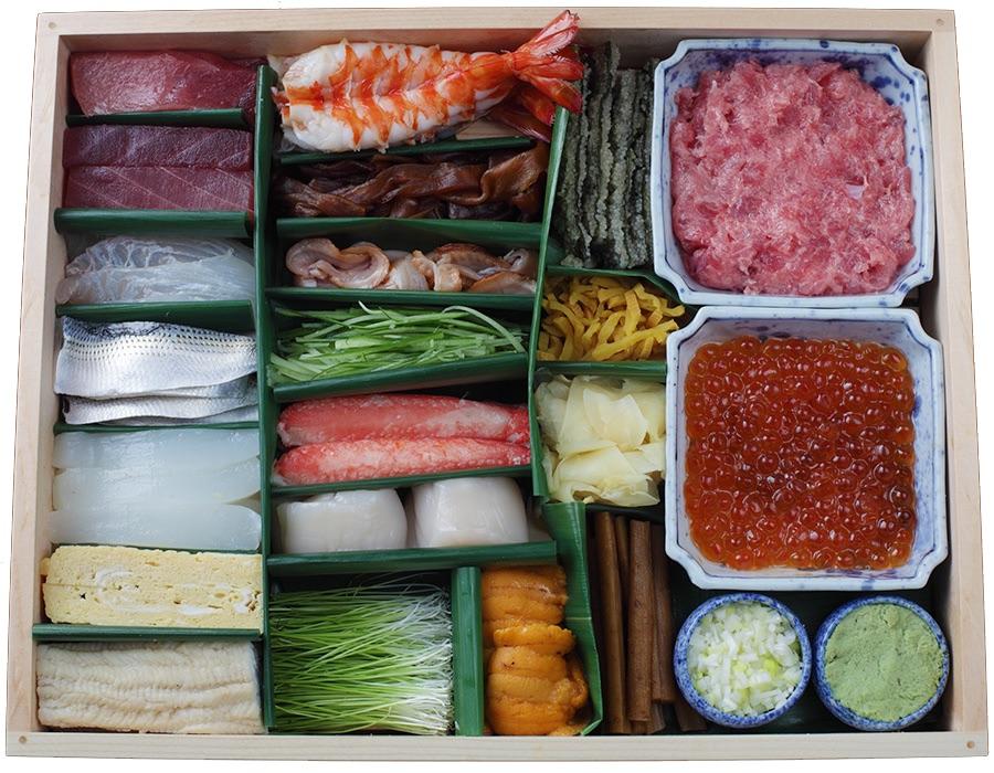青山寿司いっ誠、手巻き寿司キット、デリバリー