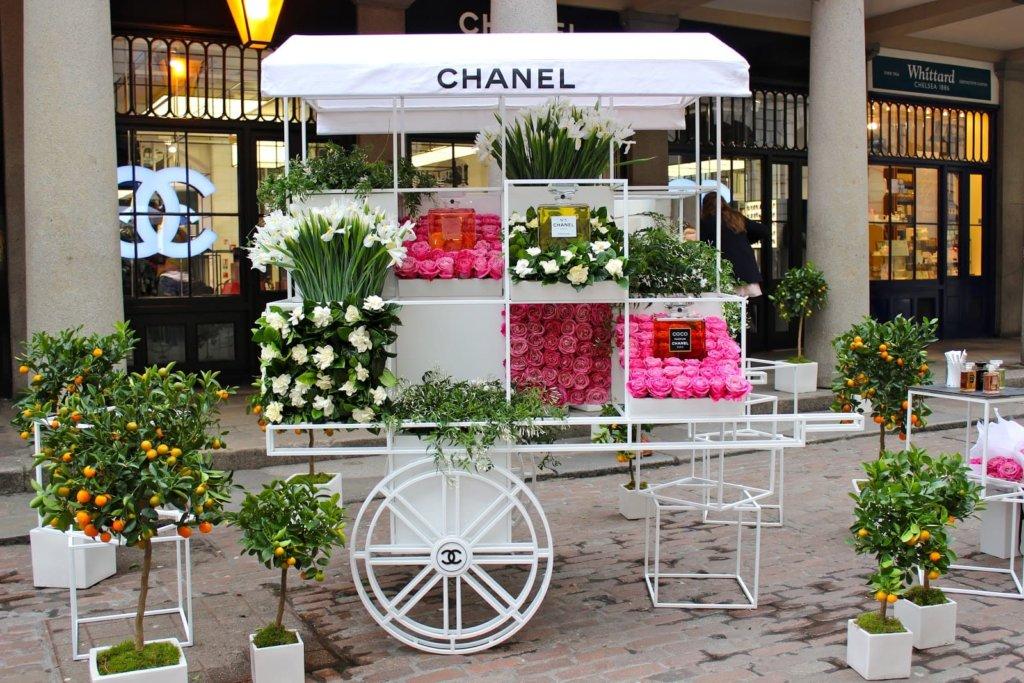 シャネル、お花、イベント