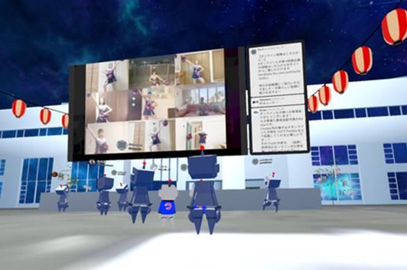 画面上でいろんなサークルのコンテンツが見られます