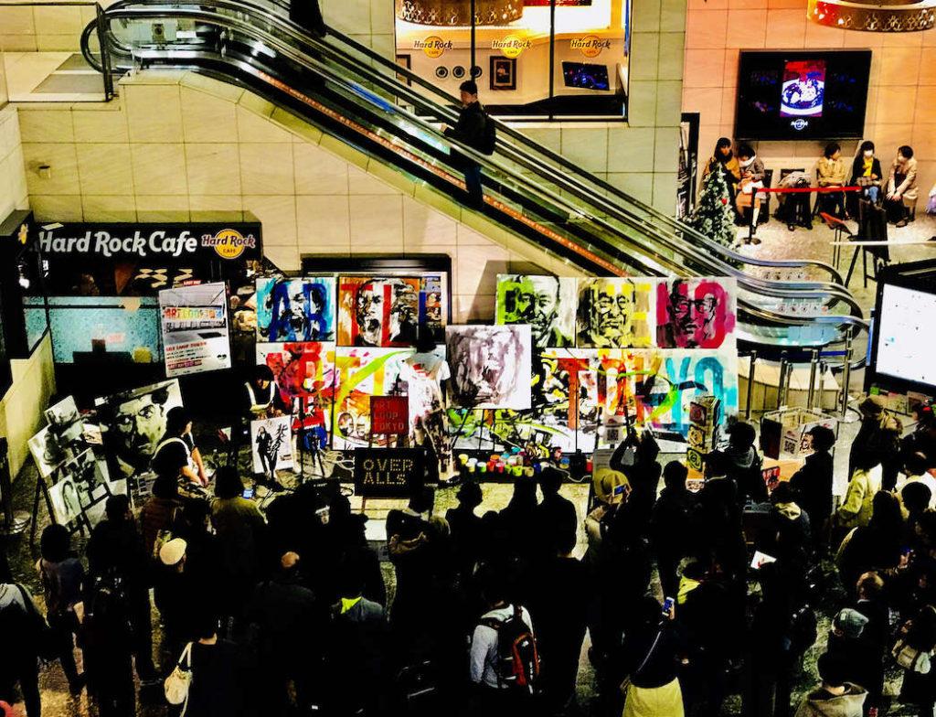 HAND!in Yamanote Line、山手線でアートと音楽を楽しむ15日間、ライブペインティング