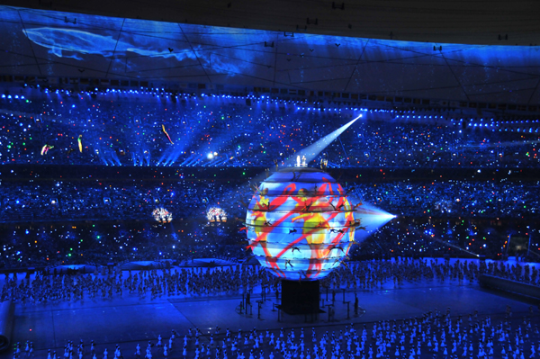 Olympia-Peking-Buehne-Eroeffnung